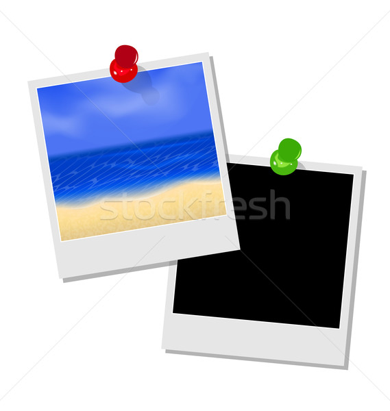 Photo frame with beach and empty photo frame Stock photo © smeagorl