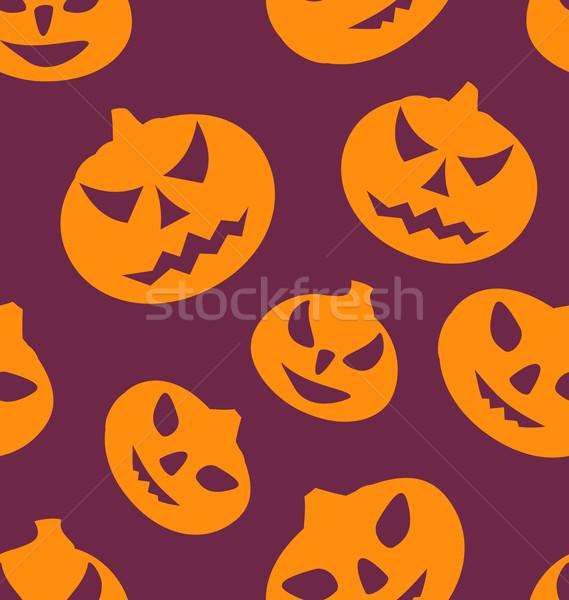 Сток-фото: бесшовный · текстуры · иллюстрация · Хэллоуин · лице