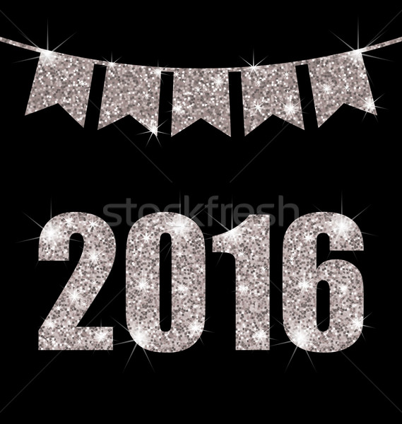 Bunting Pennants for Happy New Year 2016 Stock photo © smeagorl