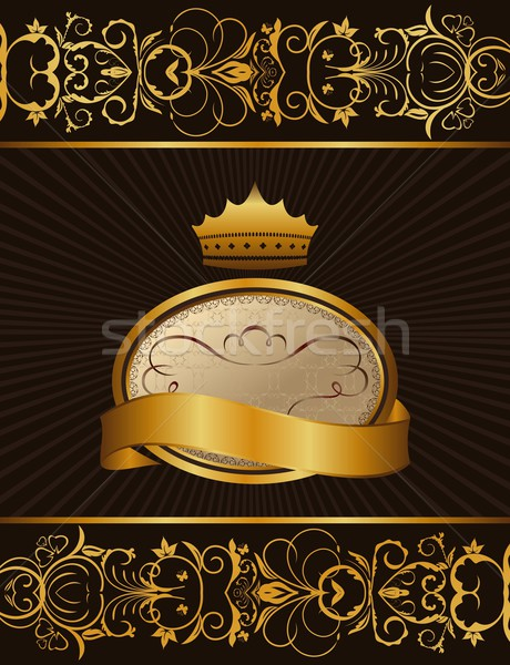 Luxury background with crown Stock photo © smeagorl