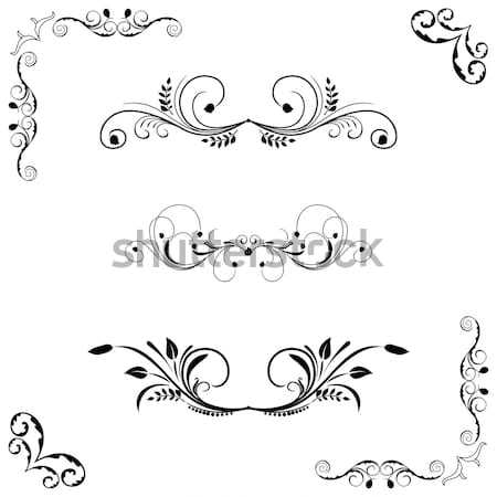Stock photo: Illustration vintage borders
