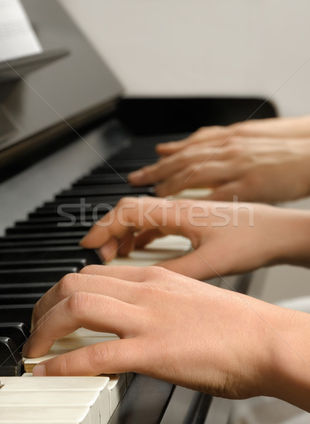 Piano lesson Stock photo © Smileus