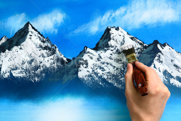 Landscape painting being created Stock photo © Smileus