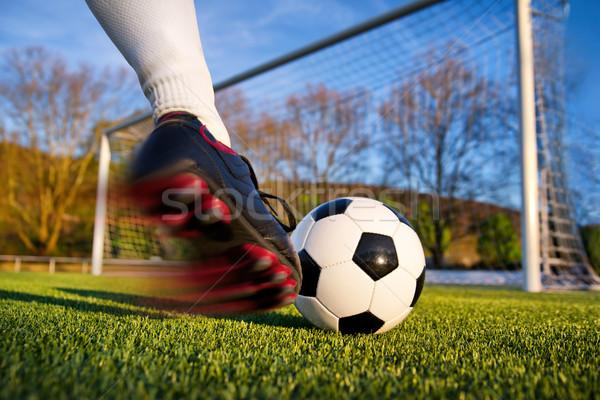 Football kick Stock photo © Smileus