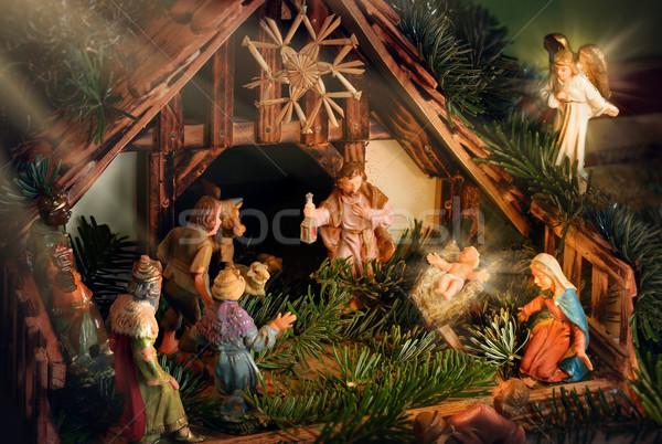 Escena luz colorido bebé Jesús Foto stock © Smileus