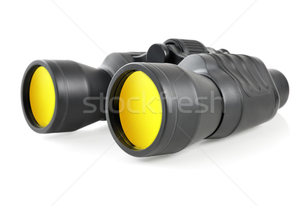 Modern binoculars on white Stock photo © Smileus