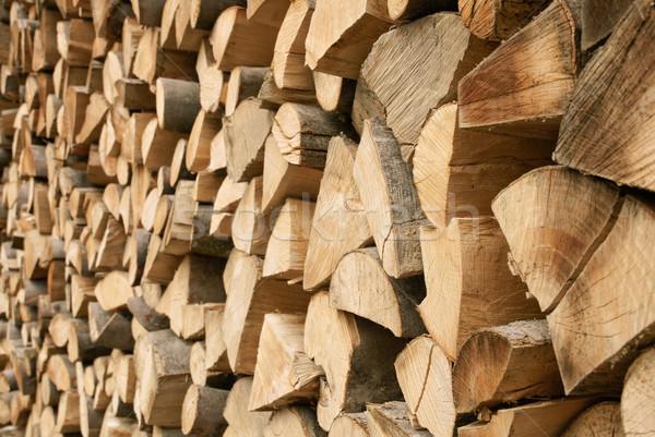 Large pile of firewood Stock photo © Smileus