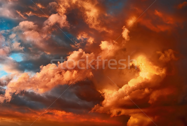 Very dramatic sunset cloudscape Stock photo © Smileus