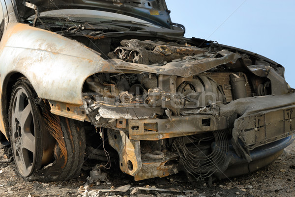 Burnt down car Stock photo © Smileus