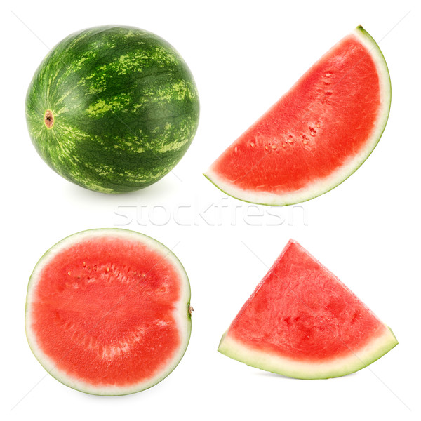 Watermelon cut in 4 different shapes Stock photo © Smileus