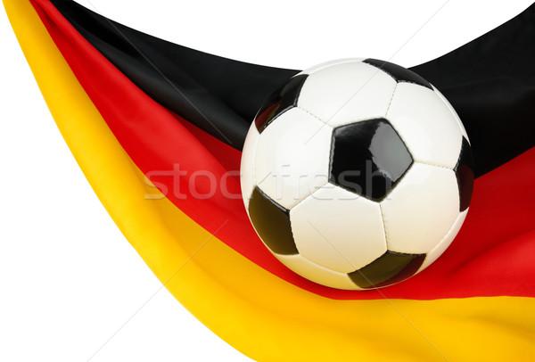 Германия футбола футбольным мячом флаг подвесной способом Сток-фото © Smileus