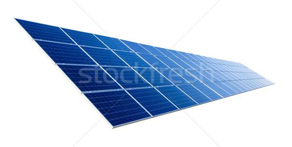 Solar panel isolated on white Stock photo © Smileus