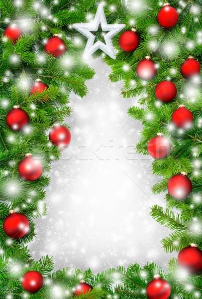 Creative Christmas tree border Stock photo © Smileus
