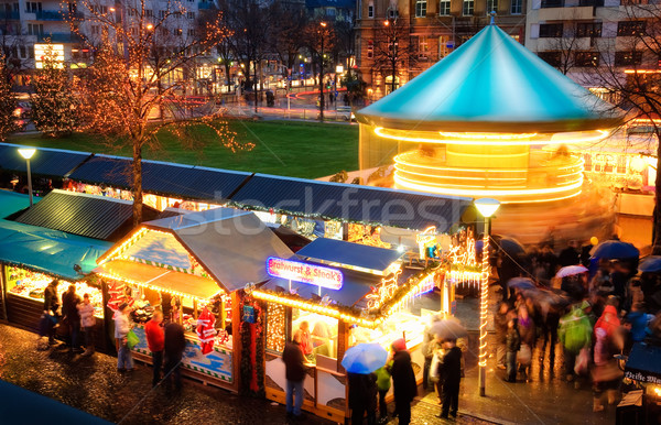 Activities at Christmas market Stock photo © Smileus