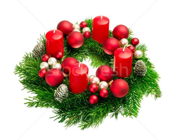 Advent wreath on pure white Stock photo © Smileus