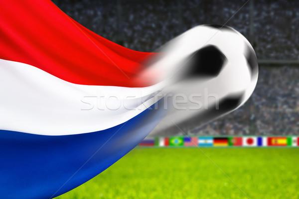 футбола Голландии футбольным мячом быстро движения голландский Сток-фото © Smileus
