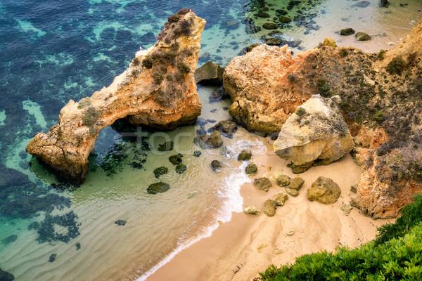 пляж воды Top мнение красивой побережье Сток-фото © Smileus