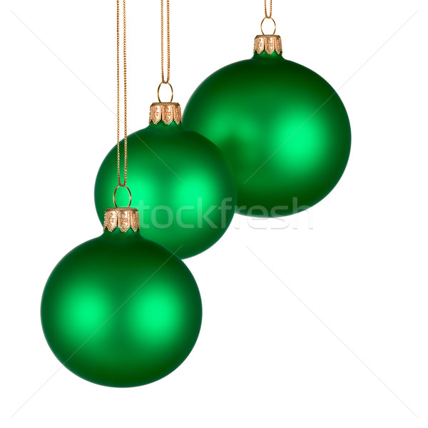 Christmas arrangement with green baubles Stock photo © Smileus