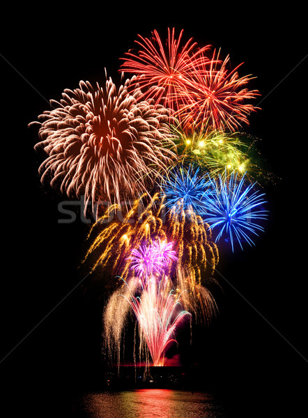 Magnificent fireworks display Stock photo © Smileus