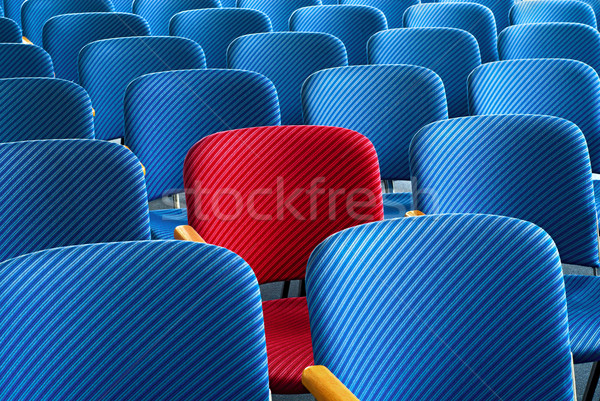 Stock photo: Red seat standing out
