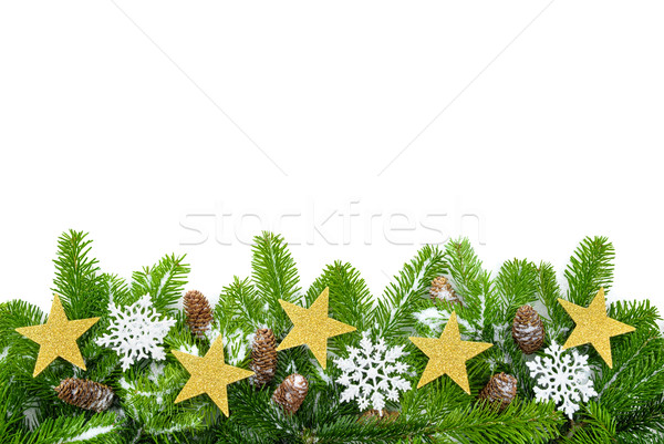 Decorated fir twigs with lots of copyspace Stock photo © Smileus