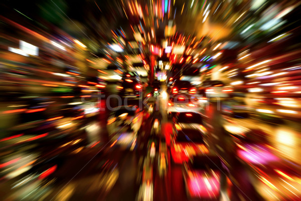 Traffic jam night shot, with dynamic blur effect Stock photo © Smileus