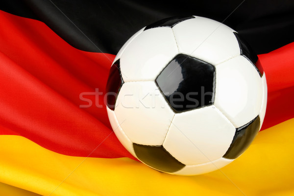Stock photo: Germany in anticipation on football