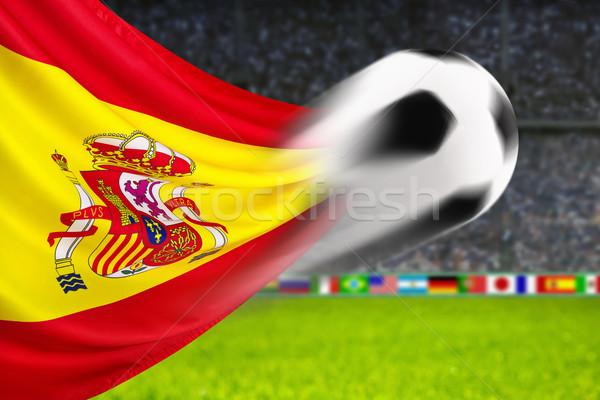 サッカー スペイン サッカーボール 高速 運動 スペイン国旗 ストックフォト © Smileus