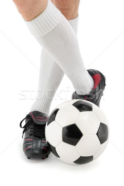Football player's feet with the ball Stock photo © Smileus