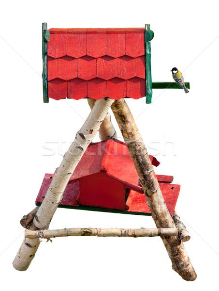 Bird looking at a nice birdhouse Stock photo © Smileus