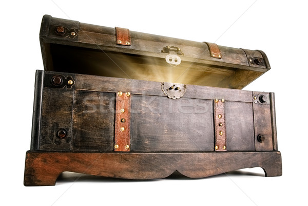 Treasure chest reveals a luminous secret Stock photo © Smileus