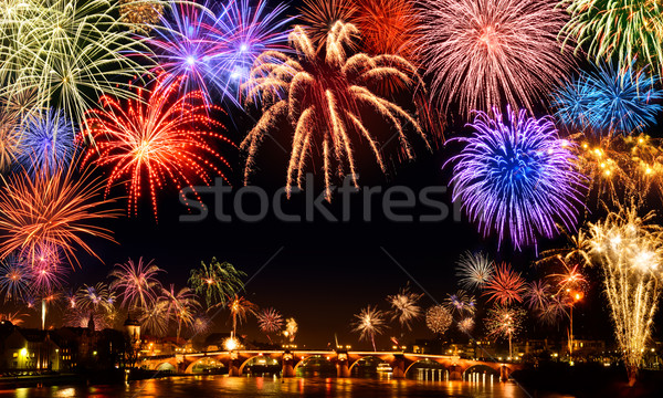 Cheerful fireworks display Stock photo © Smileus