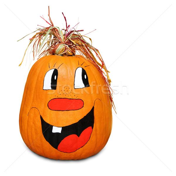 Hilarious happy pumpkin Stock photo © Smileus