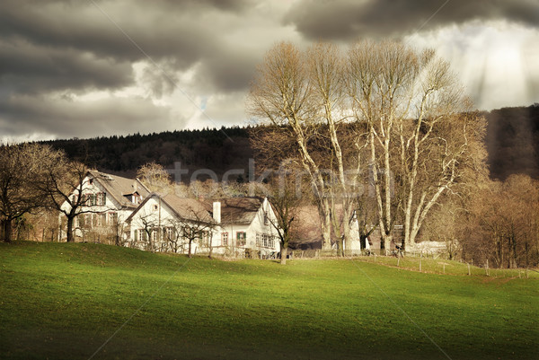 Rural landscape with dramatic lighting Stock photo © Smileus