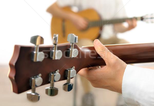 Guitar lesson Stock photo © Smileus