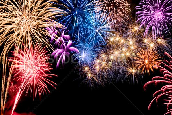 Gorgeous fireworks display Stock photo © Smileus