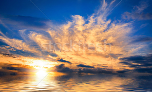 Spectacular sunset at sea Stock photo © Smileus