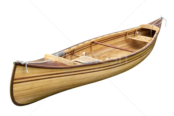 Mały wioślarstwo łodzi biały pusty Zdjęcia stock © Smileus