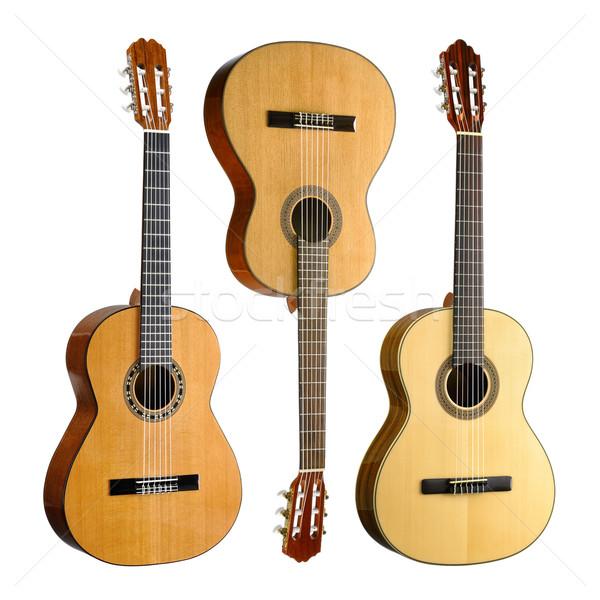 набор три классический испанский акустический изолированный Сток-фото © Smileus