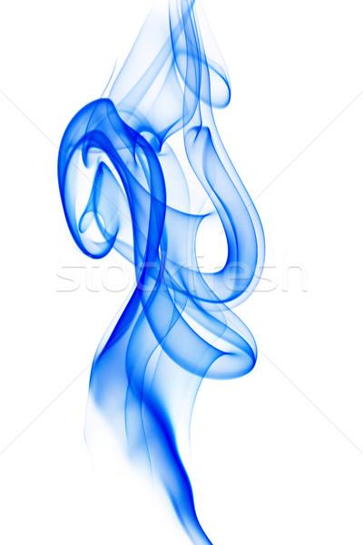Niebieski dymu biały odizolowany Zdjęcia stock © Smileus
