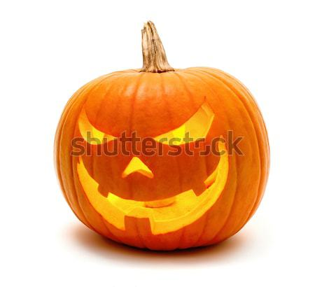 Halloween pumpkin with evil grin Stock photo © Smileus