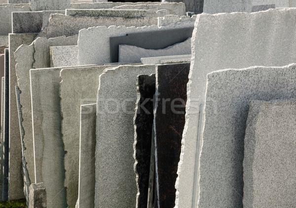 Doğal taş Bina kaya satış Stok fotoğraf © Smileus