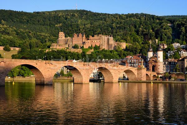 Historic castle in Heidelberg, Germany Stock photo © Smileus