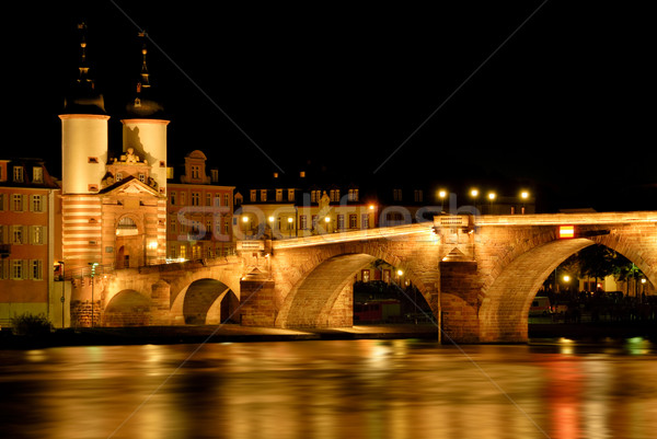 The 'Old Bridge' in Heidelberg, Germany Stock photo © Smileus