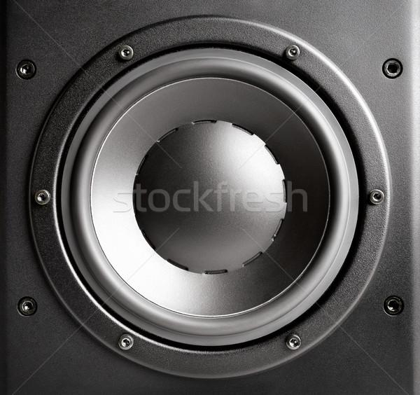 Black loudspeaker closeup Stock photo © Smileus