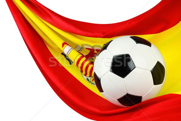 スペイン サッカー サッカーボール スペイン国旗 絞首刑 方法 ストックフォト © Smileus