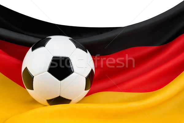 Passion football ballon suspendu pavillon symbole Photo stock © Smileus