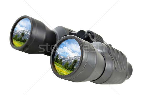 Binoculars reflect beautiful landscape Stock photo © Smileus