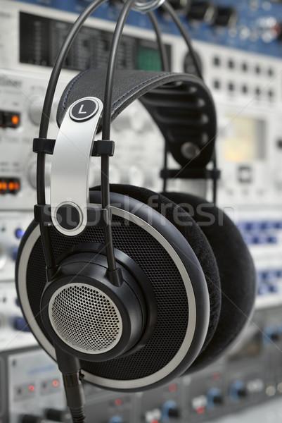 Profesyonel kulaklık asılı ses Stok fotoğraf © Smileus