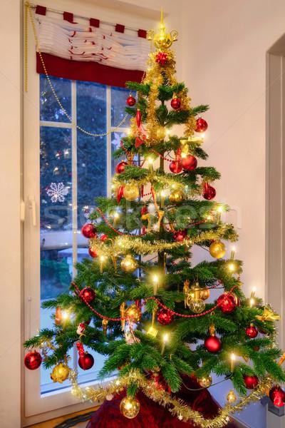 Christmas Tree In The Living Room Stock Photo Farzin Salimi Smileus 4876869 Stockfresh